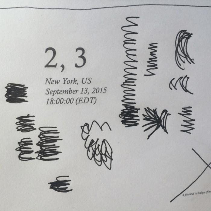 2, 3: (e.g., pencil)(s)