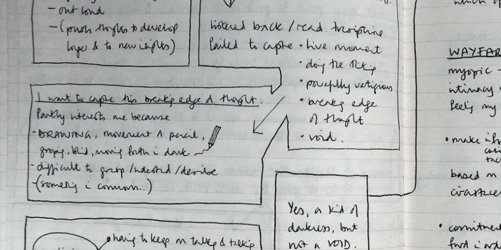 Speaking into the dark (notes)
